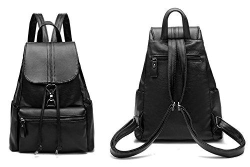 CrazySell Damen Vintage Leder Rucksack Schultasche Daypacks Für Outdoor Sports Style D