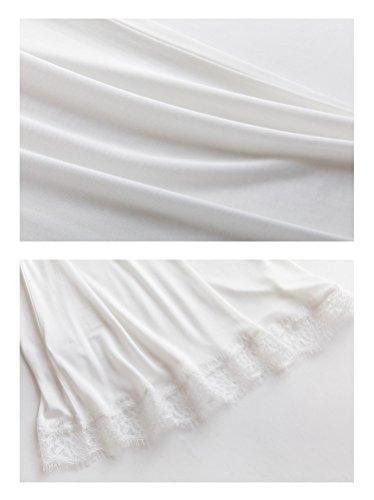 Camicia SilRiver White da notte Donna gXaqT