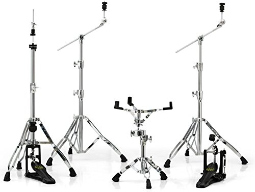 Mapex Armory 5-piece Hardware Pack with Single Pedal - Chrome (Black Drum Hardware)