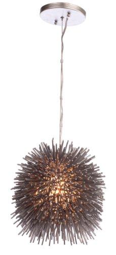 (Varaluz 169M01CH Urchin 1-Light Mini Pendant - Painted Chrome)