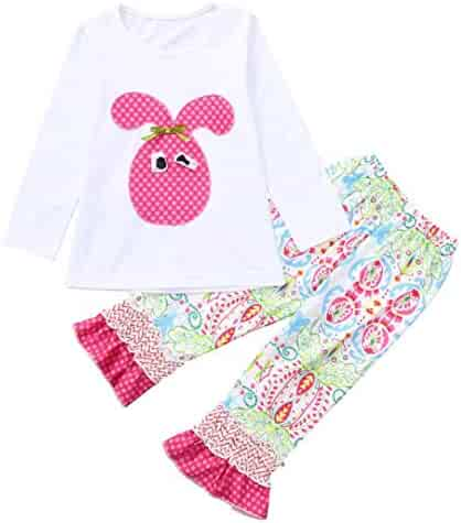 9297ce11f 1-6 Years Toddler Kids Baby Girls Long Sleeve Little Animals Top T Shirt+  Cute