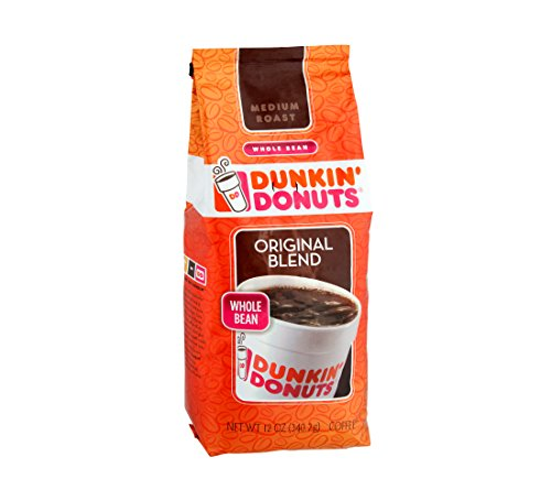Dunkin' Donuts Master Blend Whole Bean Coffee, 12 oz. (PACK of 3)