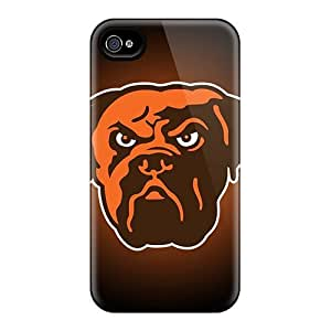 Anti-Scratch Cell-phone Hard Cover For Apple Iphone 4/4s With Support Your Personal Customized High Resolution Cleveland Browns 1 Series EricHowe