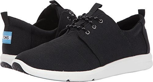 TOMS Women's Del Rey Sneaker (11 B(M) US, Black Poly Canvas) - Toms Shoes Size 11