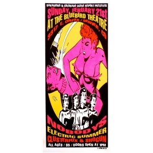 The Nobodys Poster w/Electric Summer, Clusterfux, Shogun 1999 Concert