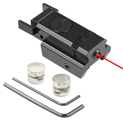 Twod Red Dot Laser Sight Scope 20mm Standard Weaver/Picatinny Rail for Pistol Gun Rifle