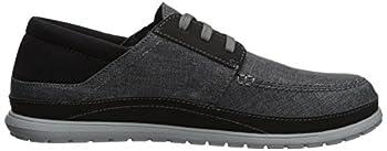 Crocs Men's Santa Cruz Playa Lace M Sneaker, Slate Greylight Grey, 10 M Us 6