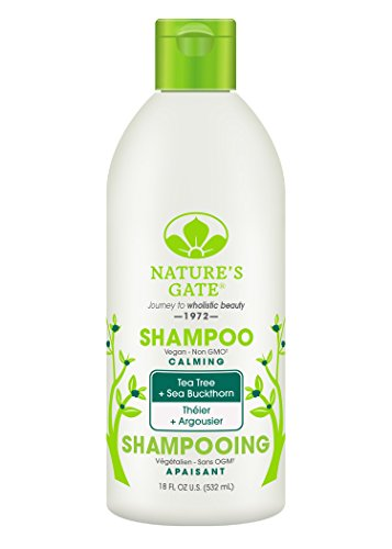 Nature's Gate Tea Tree Calming Shampoo for Irritated, Flaky Scalp, 18 Ounce (Pack of 3)