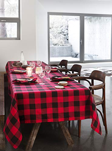Airwill, 100% Cotton Christmas Color Handloom Checks Weaved Designed Table Cloth 60×90 inches, for Big Size Rectangle Table Cloth. Price & Reviews