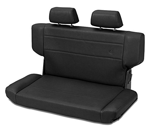 Bestop 39435-01 TrailMax II Fold and Tumble Black Crush All-Vinyl Rear Bench Seat for 1997-2006 Wrangler TJ