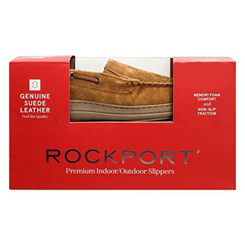 Rockport Mens Memory Foam Pelle Scamosciata Slip On Indoor / Outdoor Mocassino Veneziano Scarpetta Scarpa Cinnamon Mocassino Veneziano