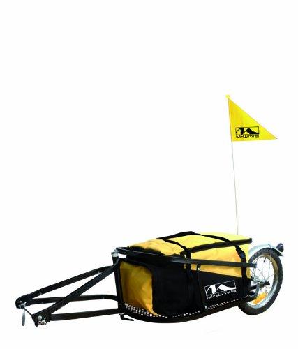 M-Wave Einspur Gepäckfahrradanhänger Single 40, gelb