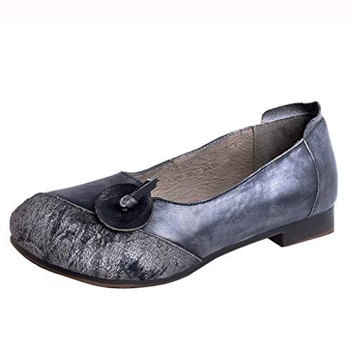 Bas Talon Faible Respirant Simples Femme Loisir À Chaussures Aide De Gray Antidérapant Tête Ronde q6xn5zEw41