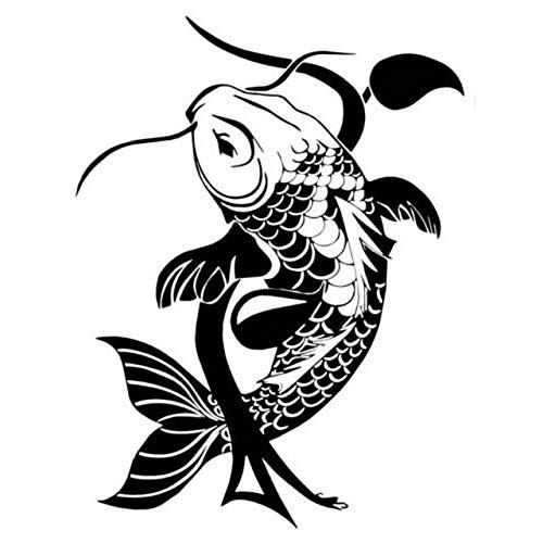 yuandp Inicio Deocr Fish Tradicional Japonés Animal Clásico Vinilo ...