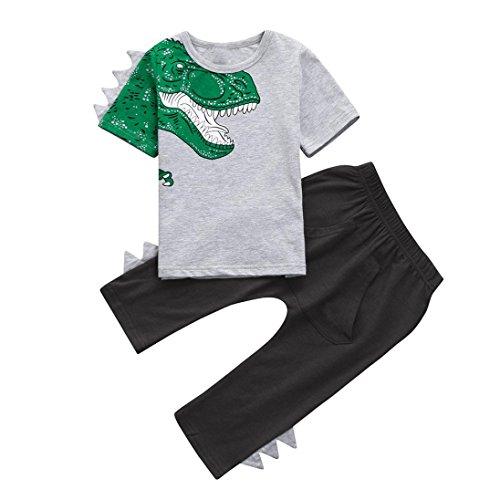 78604e59e Baby Boys Outfits, Iuhan 1-4Years Kids 3D Dinosaur T shirt Tops+Pants