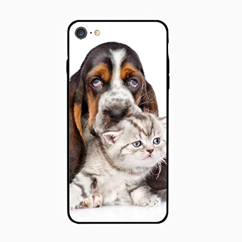 iPhone 6S 6 Case Women Slim Basset Hound Printed Rubber Shockproof Bumper Protective Anti-Scratch Cover ()