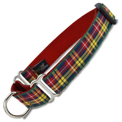 Plaid Martingale Collar, Buchanan Tartan