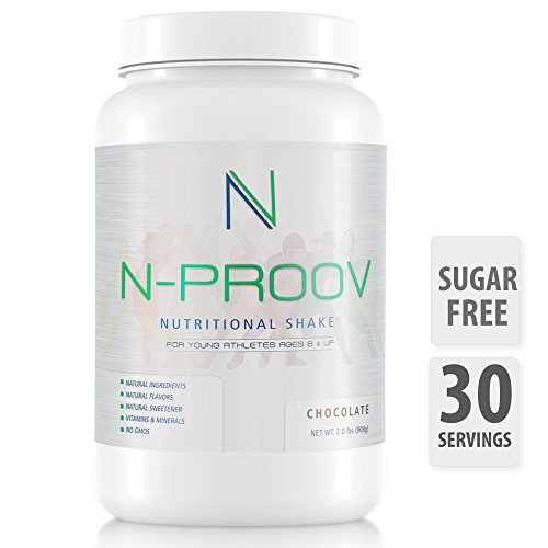 N-Proov Protein Shake Powder for Kids & Young Athletes, Natural Nutritional Meal Replacement, Healthy height, Muscle Grow, Tasty Breakfast Smoothie 14g Whey Protein Isolate Powder, Vitamins & Minerals Review
