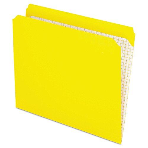 - Pendaflex Reinforced-Top File Folders, Straight Cut Tab, Letter Size, Yellow, Box of 100 Folders
