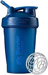 BlenderBottle Garrafa clássica perfeita para shakes de proteína e pré-treino, 590 ml, azul marinho