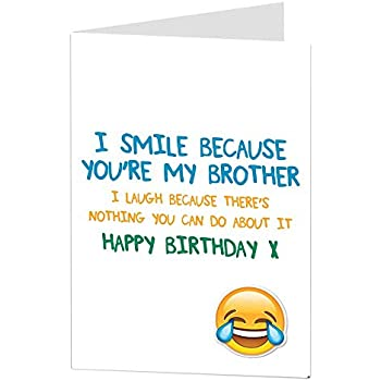 Amazon Funny Brother Birthday Cards Perfect For Big Older 40th