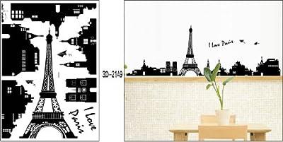Nursery Easy Apply Wall Sticker Decorations - Parisian Landscape