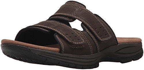 Dunham Men's Newport Slide Flat Sandal, Dark Brown, 13 D US