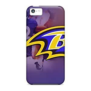 Durable Defender Case For Iphone 5c Tpu Cover(baltimore Ravens)