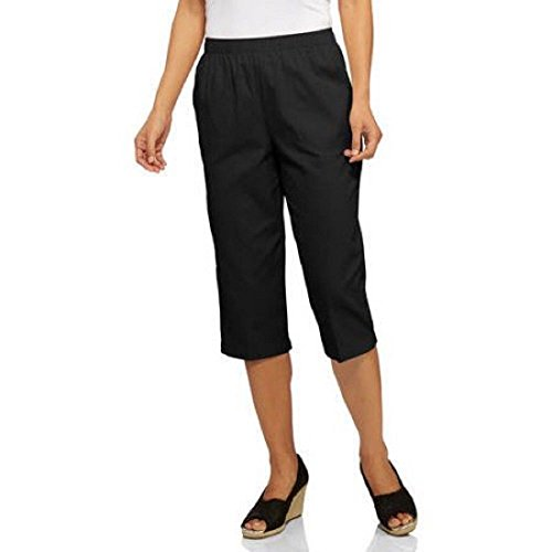 White Stag Women's Woven Pull-On Capri, XXL, Black price tips cheap
