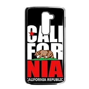 HUAH california republic t shirt Phone Case for LG G2