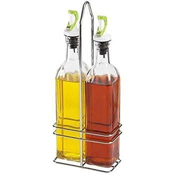 c1390e315e30 Amazon.com: Storage Essentials Oval Oil & Vinegar Bottles: Oil ...