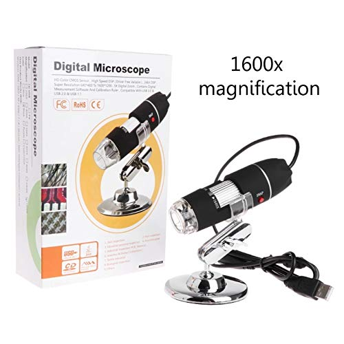 Kul-Kul 1600X 2MP Zoom Microscope 8 LED USB Digital Handheld Magnifier Endoscope Camera