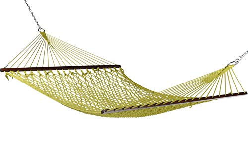 Caribbean Rope Hammock - 55 Inch - Soft-Spun Polyester (Olive)