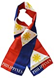 "Philippines - 8"" x 63"" Lightweight Polyester Flag Scarf"