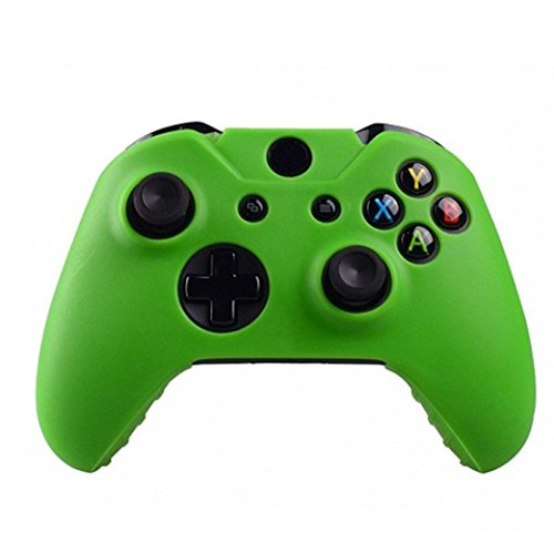 Price comparison product image Clearance !  Ninasill  Exclusive Silicone Rubber Skin Case Gel Protective Cover For Xbox One Wireless Controller (Green)