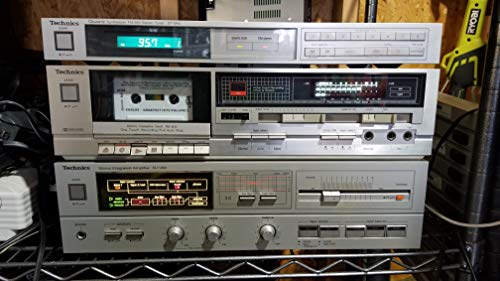 Vintage Silver TECHNICS SU-V88 Integrated Amplifier 100WPC / TECHNICS ST-S44 Quartz Synthesizer FM/AM Stereo Tuner/TECHNICS Cassette Single Deck RS-B12 / NO Speakers/NO Remote Made in Japan