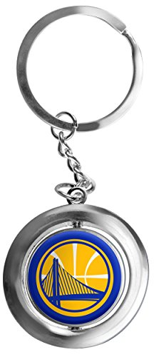 e Warriors Basketball Spinner Keychain, Yellow, One Size ()