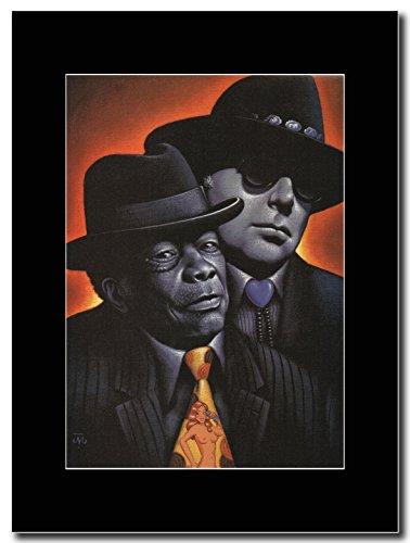 gasolinerainbows - Van Morrison - Van Morrison & John Lee Hooker - Matted Mounted Magazine Promotional Artwork on a Black Mount ()