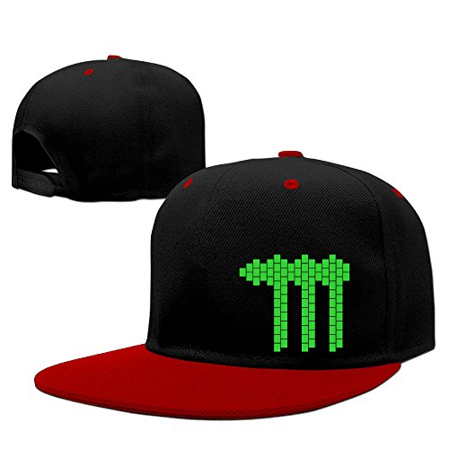 custom-unisex-green-claw-flat-billed-baseball-caphat-red