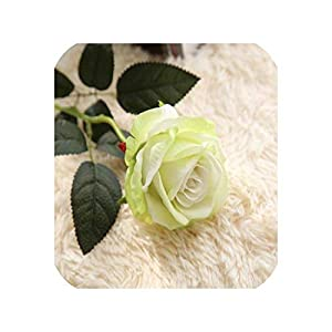5Pcs/lot Real Touch Rose Artificial Flowers Silk for Wedding Home Design Bouquet Decoration Valentine Day Home Decoration,c 106