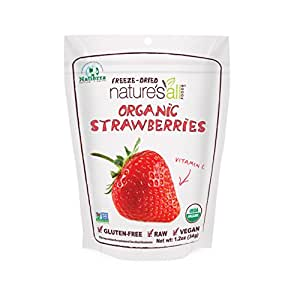 Natierra Nature's All Foods Organic Freeze-Dried Strawberries, 1.2 Ounce