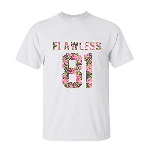 Flower Floral shirt Birthday 1981 Gift -Flawless- 81 Customized T-shirt | Long Sleeve T-shirt | Hoodie | Tank Top | Racerback -
