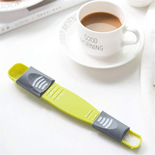 Adjustable Kitchen Scale Liquid Powder Measure Cup Metering Spoon Double Head Measuring Spoon for Cooking Seasoning Scale