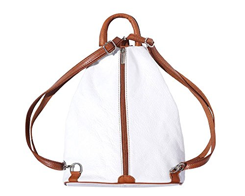Bordeaux Tan Woman Leather 207 207 Black White And Light Florence Brown Backpack Bag amp; multicolor YSRCYw