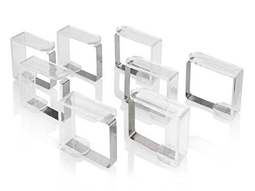 Bluespoon Tischdeckenklammer Set 8 teilig aus Kunststoff und Metall | Die Tischdeckenklammern halten Ihre Tischdecken und Tischtücher da wo sie hingehören