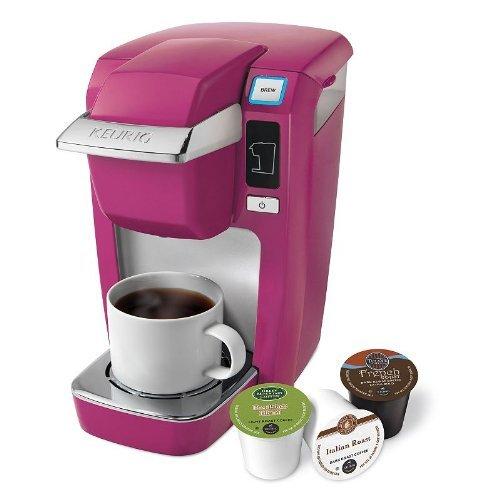 Keurig K-cup Mini Brewers (Keurig Mini Plus K10 Single Serve Coffee Brewing System, Hot Pink-Mauve)