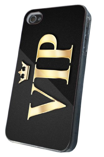 iphone 4 4S Cool Funky VIP Design Fashion Trend Hülle Case Back Cover Metall und Kunststoff-Löschen Frame