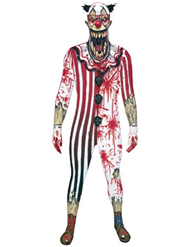 Morphsuits Zombie Clown Jaw Dropper Adult Costume White/Red/Black ()