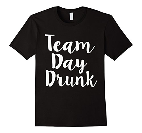 Men's Team Day Drunk T-Shirt Large Black