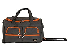 Travel in style with this great soft-sided rolling duffle bag. Bag features a heavy duty polyester construction. Inline skate wheels for superior mobility, internal retractable hide-away handle system, u-top opening provides easy access to ro...